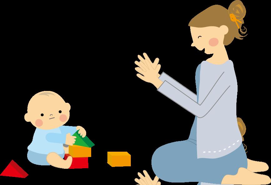 赤ちゃんとママ(上手に出来た ... : こども プリント : プリント