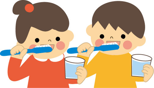 歯磨き(はみがき)のイラスト-無料イラスト/フリー素材